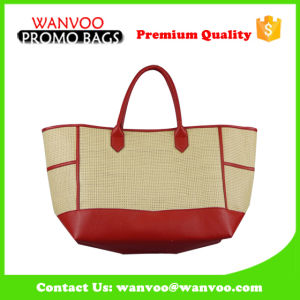 Women′s Newest Handmade Straw Tote Handbag Leisure Beach Bag pictures & photos