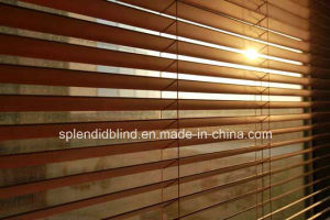 63mm Slats Wood Venetian Horizontal Blinds with Tape Ladder 50mm Venetian Wooden pictures & photos