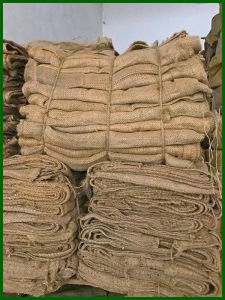3 Blue Stripe Jute Bag for 100kg Packing pictures & photos