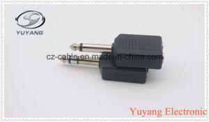 6.35mm Mono Plug to 2X6.35mm Mono Jack pictures & photos