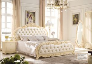 Newest Leather King Size Bed for Home or Hotel (LB-027)