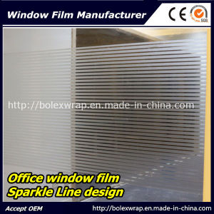 Decorative Sparkle Window Film Glass Window Film Office Line Design Window Film 1.22m*50m pictures & photos