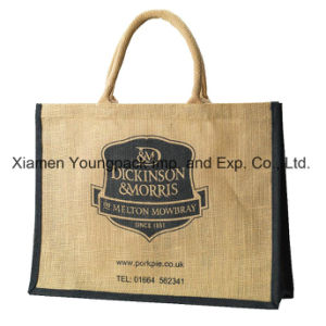 Wholesale Custom Printed Large 100% Biodegradable Jute Shopping Tote Bags pictures & photos