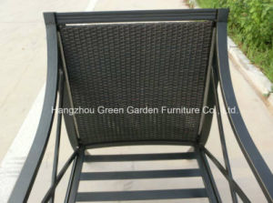 Gardrn Furniture Hand Paint Sofa Set with Rattan Weave Chair pictures & photos