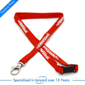 Customized Promotion Flat Polyester Lanyard Gift pictures & photos