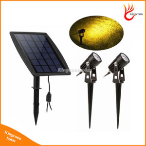 New Solar Powered LED Spotlight Adjustable Double Head Spotlights Wall Light Garden Lamp Bright Warm White pictures & photos