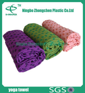 Non-Slip TPE Material Microfiber Fabric Yoga Mat Towel pictures & photos