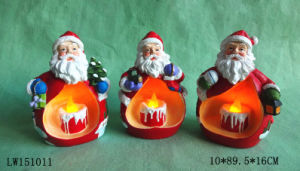 Xmas Statue Figurine Candle Holder Home Decoration pictures & photos