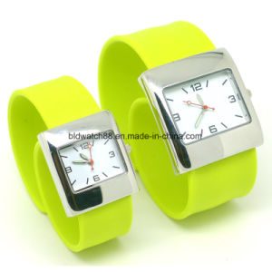 Hot Sale Slap Band Silicone Wrist Watch with Japan Movement pictures & photos