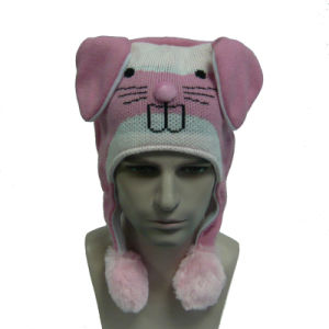 Multicolor Rabbit Knitted Hat with Single Airbag pictures & photos