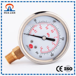 Custom Stainless Steel Oil Filled Mechanical Fuel Pressure Gauge pictures & photos