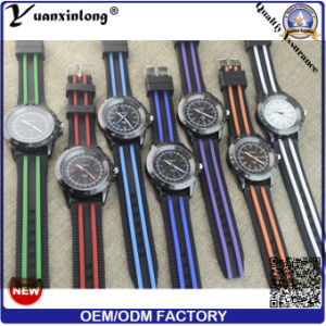 Yxl-185 Promotional New Design Men Watch Military Bid Dial Rubber Casual Wrist Watch Chronograph Mens Watches pictures & photos