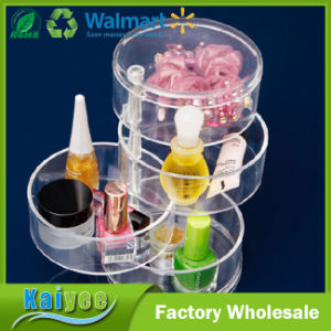 Multifunctional Dressing Table Jewelry Cosmetics Rotary Storage Box pictures & photos