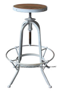 Industrial Metal Furniture Restaurant Vintage White Bar Stools pictures & photos