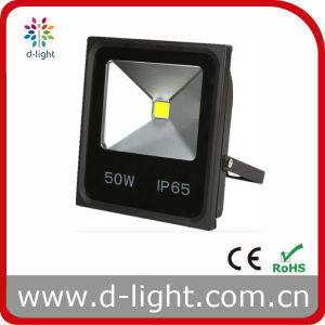 High Power COB IP65 Ultra Slim 85-265V 50W LED Floodlight for Outdoor Use