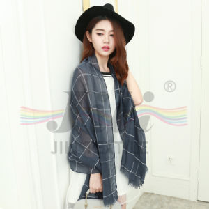 Woman Check Tartan Plaid Scarf Winter Scarf