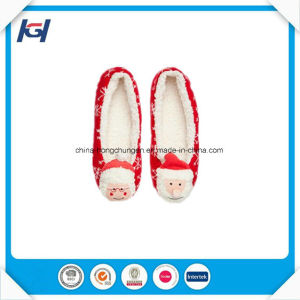 Cute 3D Dog Head Soft Sole Ballerina Slippers for Women pictures & photos