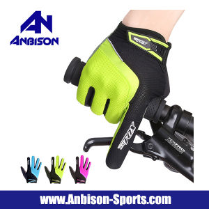 2017 Newest Road Cycling Breathable Cushioning Full Finger Gloves pictures & photos