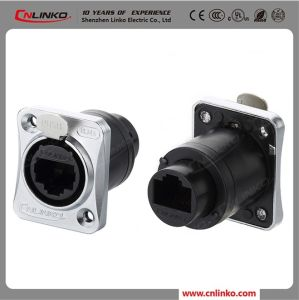 Waterproof Cat5e Ethercon 8p8c RJ45 Connector for Signal pictures & photos