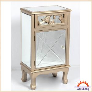 Home Furniture Accent Antique Wooden Mirrored Console for Living Room or Bedroom-Champagne pictures & photos