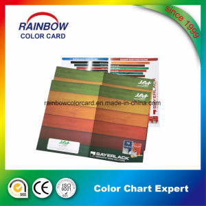 Full Color Offset Printing Wood Color Card for Advertisement pictures & photos