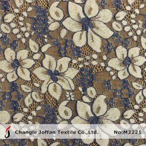 Two Color Eyelash Cotton Flower Lace Fabric Wholesale (M2221) pictures & photos