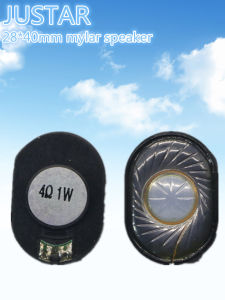 28*40mm 4-16ohm 0.25-1.5W Mylar Speaker with RoHS pictures & photos