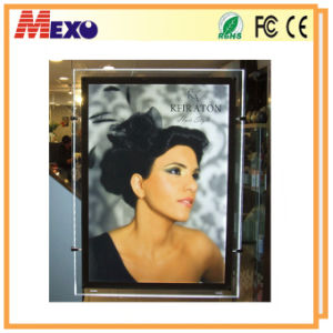 Double Sided Acrylic Frame Slim LED Light Box for Window Displays pictures & photos