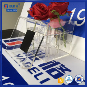 Custom Black Acrylic Gift Box for Flower with Printing Logo pictures & photos