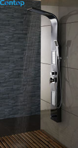 Quality Bathroom Stainless Steel Mirror with Black Titanium Shower Panel pictures & photos