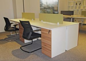Modern New Office 4 Person Workstaiton with Storage Cabinet pictures & photos