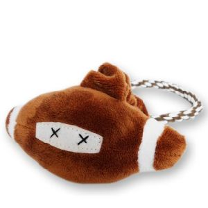Pet Plush Toy Rugby Style Dog Rope Toy with Handle (KB0030) pictures & photos