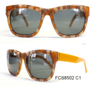 Unisex Classic Acetate European Sunglasses with Ce pictures & photos