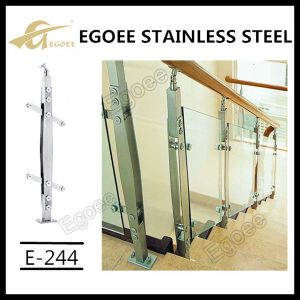 Luxury Flooring Mounted Stainless Steel Crystal acrylic Stair Balustrade pictures & photos
