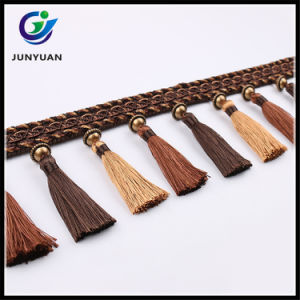 China Fabric Tassel Fringe Trims for Curtain Decorative pictures & photos