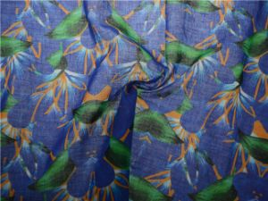 Custom High Quality Printed Ramie Cotton Fabric (DSC-4170) pictures & photos