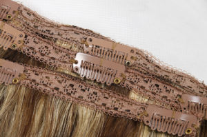 Top Quality Clip-in Hair Extensions Remy Hair Extensions Silky16inches Blonde Color pictures & photos