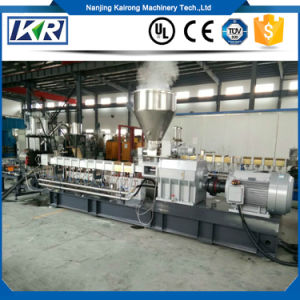 Lab 30 Plastic Twin Screw Extruders for Small Business/UPVC Plastic Conical Twin Screw Extruder pictures & photos