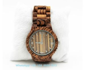 Excellent Smart Quartz Wooden Watch with Sandalwood Strap Fs579 pictures & photos