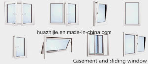 China Factory UPVC Windows with High Quality PVC Profile Material pictures & photos