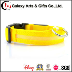 Rechargeable LED Glow/ Flashing Polyester Night safety Dog Collars pictures & photos