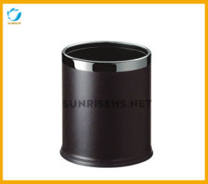 Standing Black Leather Waste Bin pictures & photos