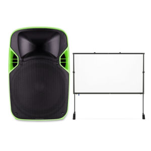 Cheap Portable Battery Powered Trolley LED Projection Speaker with USB pictures & photos