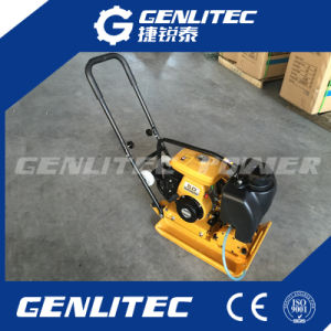 Robin Engine Gasoline Plate Compactor with Water Tank and Wheels pictures & photos