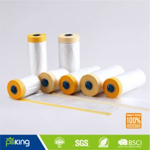 Furniture Protection Covering Masking Film with Tape pictures & photos