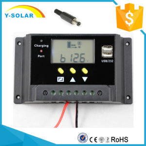 12V 24V 20A with LCD Display and Dual USB Solar Charge Controller/Regulator with Ce RoHS Sm20 pictures & photos