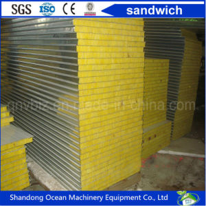 Rrockwool / Glasswool / EPS / PU Sandwich Wall Panel for Prefabricate Building Container House pictures & photos