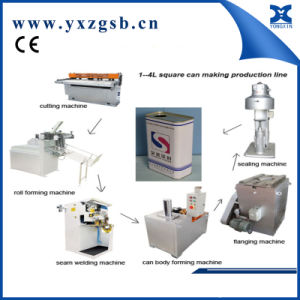 Semi-automatic square rectangular tin can making machine production line pictures & photos