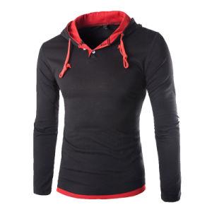 Mens Slim Fit Plain Hooded Sweatshirt (A596) pictures & photos