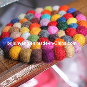 Natural Round Felt Ball Trivets Coasters From Nepal pictures & photos